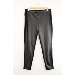 Worthington Faux Leather Front Ponte Leggings L